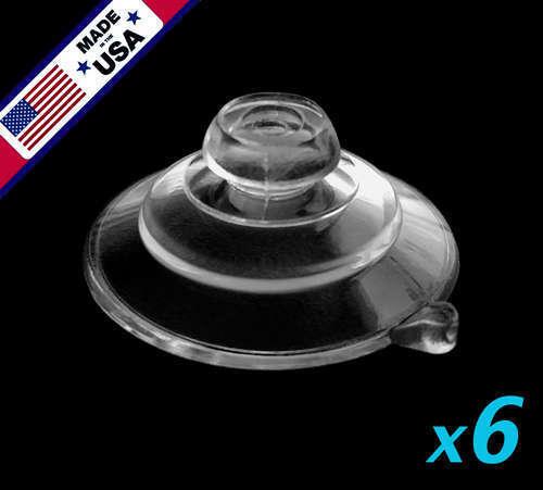 "(6) 1-1/4"" Usa Finest Small Ultra-duty Mushroom Head Suction Cups 1 Lb Hold Tekorten"