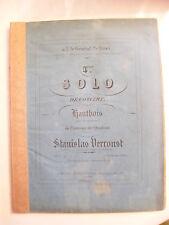 Partition 4 ème solo de concert pour le hautbois par Stanislas Verroust