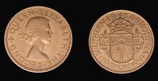 South Rhodesia 1954 Half Crown, Nice High Grade, Sharp Detail, One Year Type