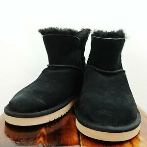 0073ac50dec Details about KOOLABURRA by UGG Women's Size 5 1015209 Suede Classic Mini  Ankle Boots Black