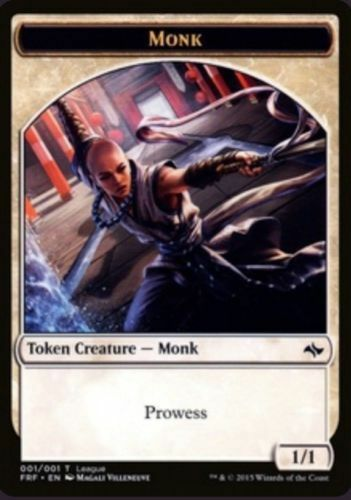 1x MTG Monk Token League Promo NM+ Magic the Gathering Fate Reforged English