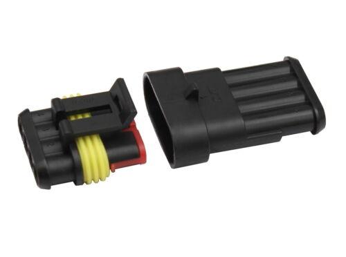 4-polig AMP Superseal KFZ Stecker Steckverbindung wasserdicht Auto LKW Boot