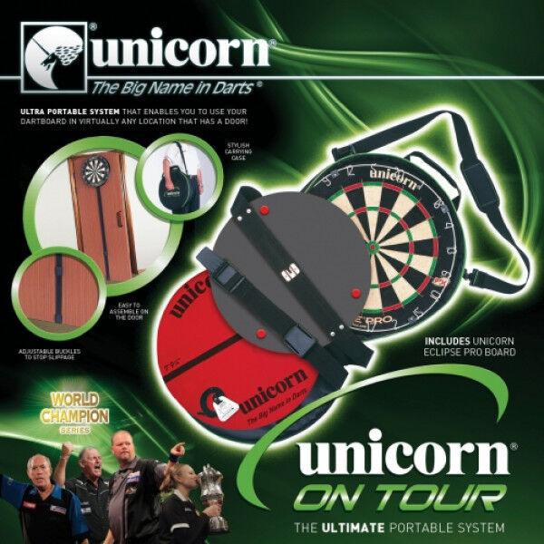 Unicorn Dart - On Tour mobile Dartanlage inkl. Eclipse Pro Board (Steel Dart)