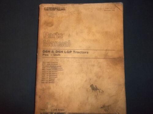 CAT CATERPILLAR D6H /& LGP CRAWLER TRACTOR DOZER PARTS BOOK MANUAL S//N 4RC 6FC