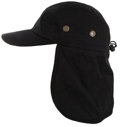 Ear Flap Sun Hat Neck Cover Baseball Cap Visor Camo Army Fishing Outdoors USA