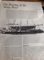 L3-7 Ephemera 1981 Article The Raising Of The Mary Rose 3 Pages