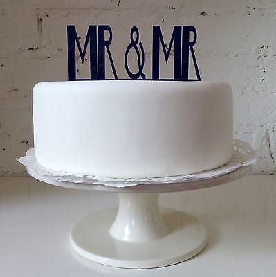 Mr & Mr Cake Topper - Gay Wedding Civil Partnership Colour Pop Monochrome Male