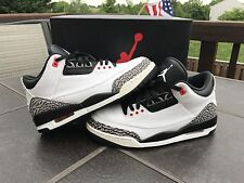 jordan 3 infrared 23 Size 10 White Black Cement OG Nike Air Authentic