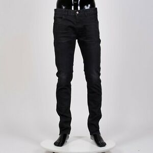 CELINE-HOMME-820-Skinny-Low-Waist-Jeans-In-Washed-Black-Stretch-Denim