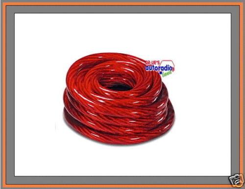 { Stromkabel 35mm²  5 Meter am Stück  rotes Pluskabel