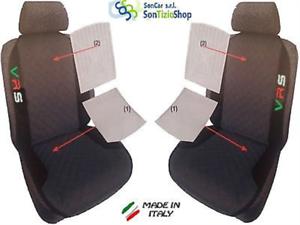 Stickerei RS 96/' Paar Rückenlehnen Universal Sitzbezüge Skoda