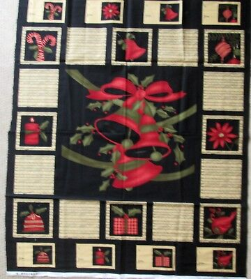Merry Santa Patch Christmas Cotton Quilting Panel Fabric 30 Individual Panels