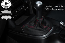 RED  STITCHING MANUAL LEATHER GEAR GAITER FITS PORSCHE CARRERA 997 BOXSTER 987