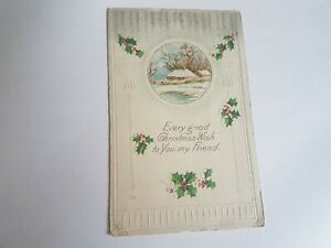 Greeting-Postcard-Vintage-Christmas-Friend