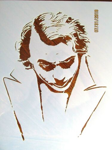 Batman Joker Heath Ledger Stencil//Template Reusable 10 Mil Mylar