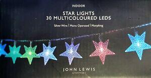 John Lewis 30 LED Intérieur Noël Arbre Morphing Étoile Lumières - Neuf en Boîte