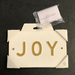 Details about  /NEW Hearth /& Hand With Magnolia Joy Metal Bathroom Wall Sign Decor Plaque
