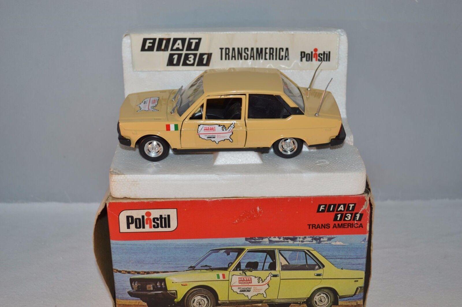 Polistil S56 Fiat 131 trans America near mint in box 1 25 selten- raro- rare