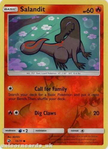 Salandit 13//70 Dragon Majesty Reverse Holo Mint Pokemon Card