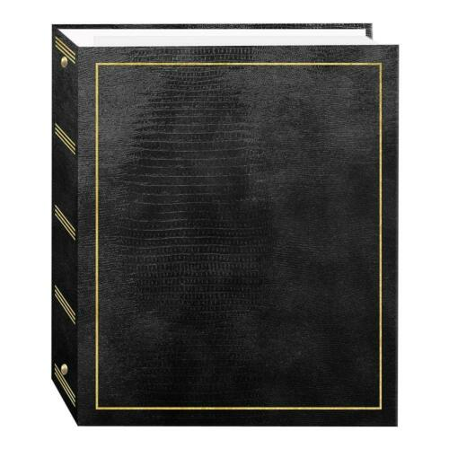 Black 50 Sheets Magnetic Self-Stick 3-Ring Photo Album 100 Pages