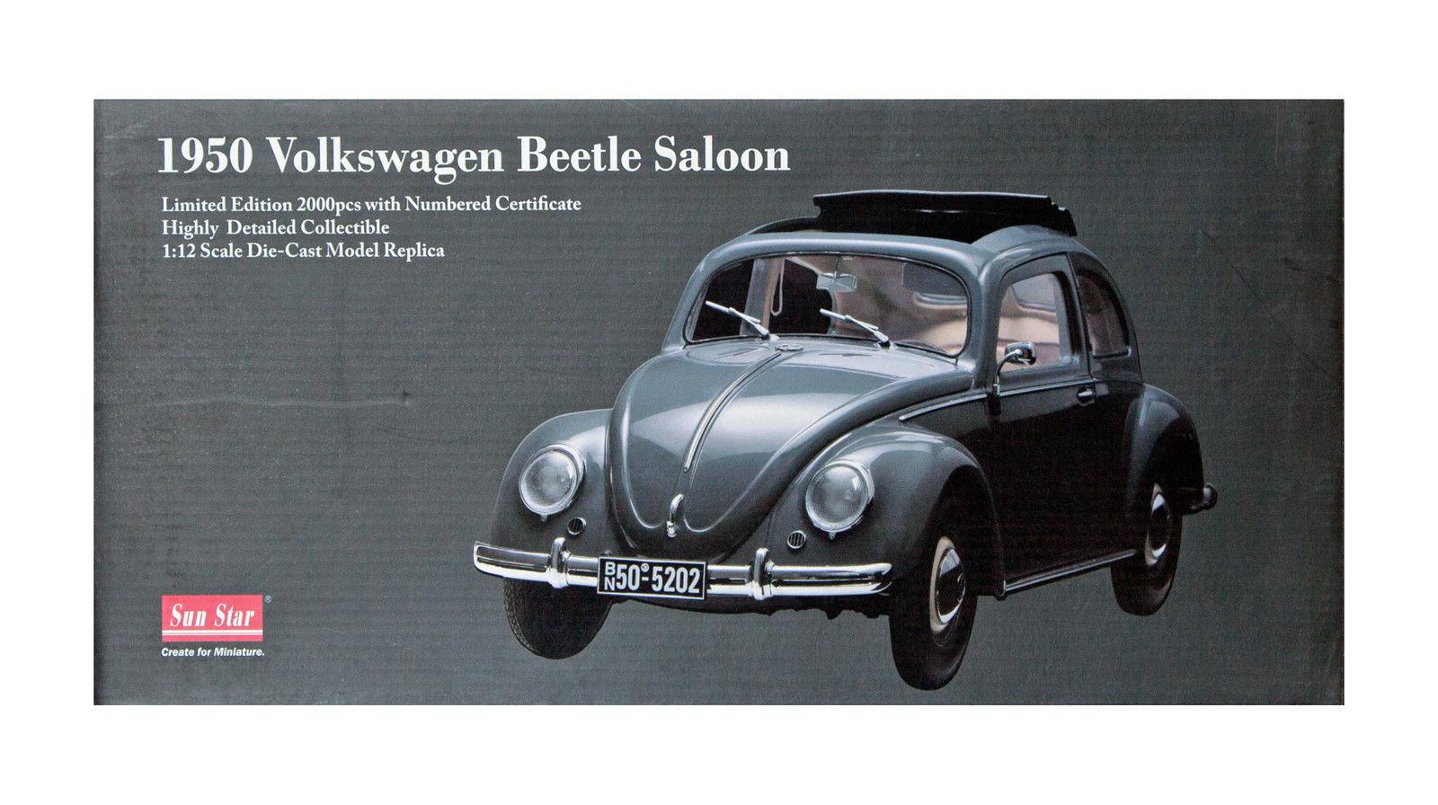 1 12 SUNSTAR Sun Star 5202 (1950) Volkswagen Beetle Beetle Saloon Grey Lmtd.2000
