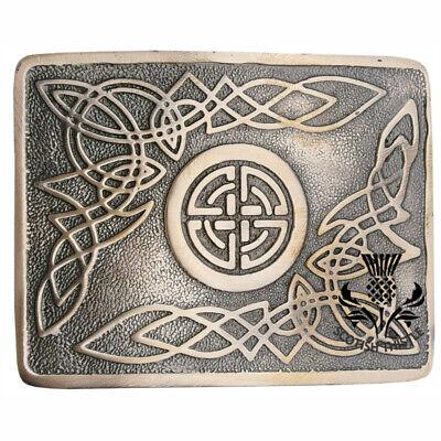 Vintage Rectangle 3D Celtic Pattern Belt Buckle