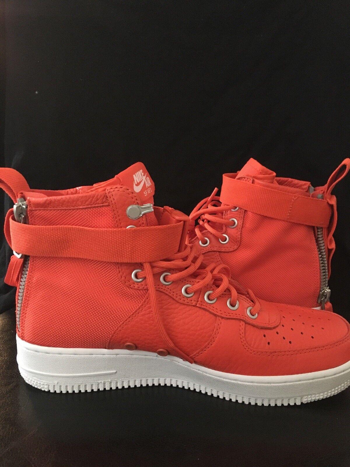 NIKE SF AF1 MID Men's Basketball shoes 'TEAM orange WHITE' 9