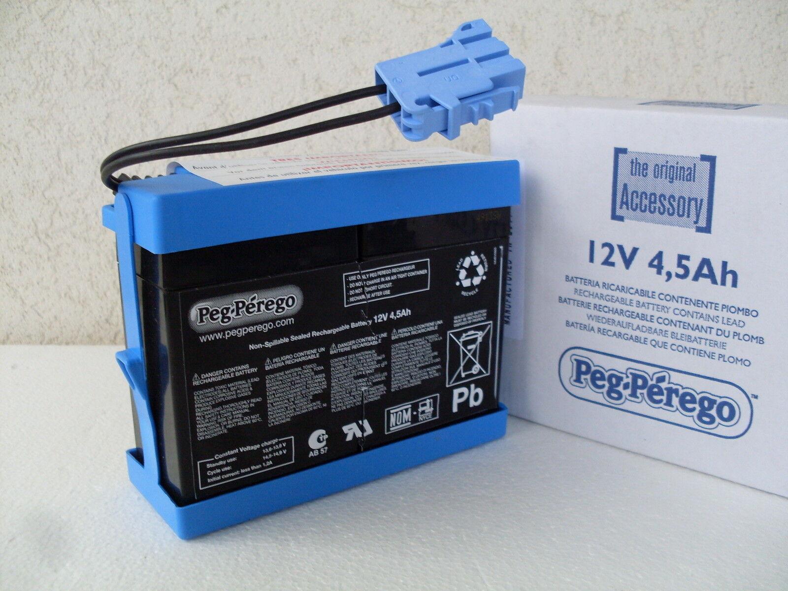 Batteria battery 12 V 4,5 Ah ricaricabile volt ampere veicoli peg perego KB0032