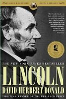 Lincoln By David Herbert Donald, (paperback), Simon Andamp; Schuster , New, Free on sale