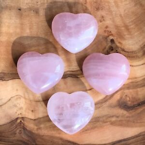 1-100 x Rose Quartz Crystal Hearts 25mm Love Healing Wholesale Wedding  Favours   eBay