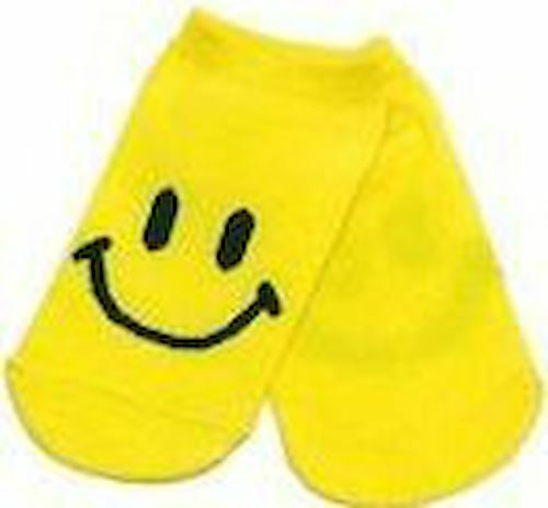 78522 Happy Yellow Smiley Face Toddler Ankle Socks Cute Child Glows Blacklight