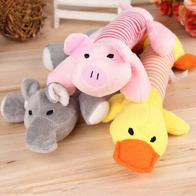 Pet Puppy Chew Squeaker Squeaky Plush Sound Pig Elephant Duck Ball Dog Sound Toy