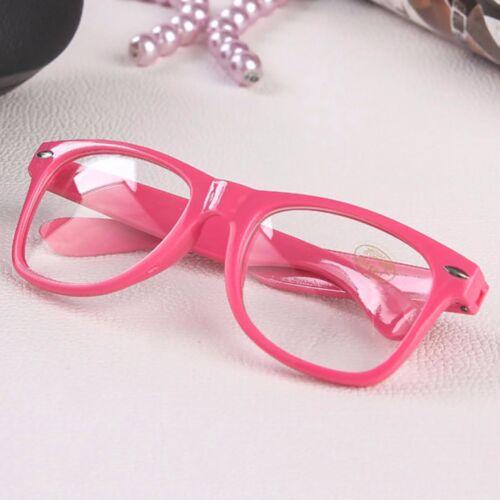 Kinder Quadrat Glänzend Rahmen Durchsichtige Linse Mode Brille Jungen Mädchen