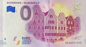 BILLET-0-EURO-SCHARDING-SILBERZELLE-AUTRICHE-2018-NUMERO-1000