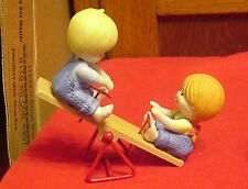 Enesco Country Cousins Katie & Scooter on Seesaw Set