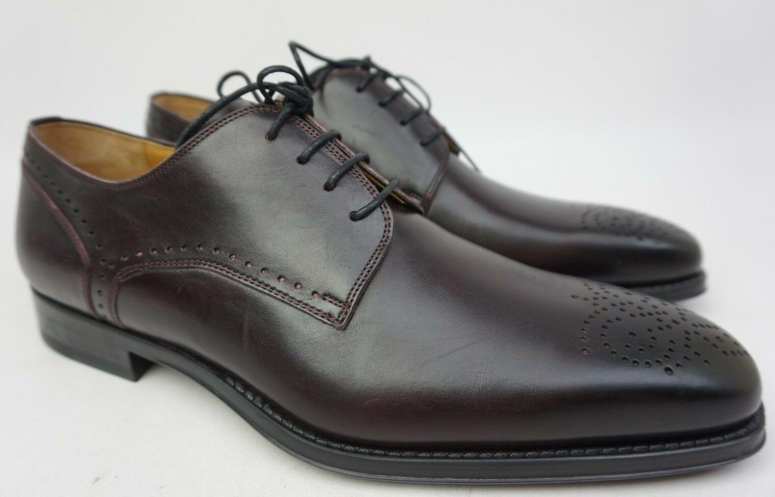 Magnanni Gregorio Dunkel Burgunderrot Leder Derby Herren Oxford Oxford Oxford Schuhe Größe 9 M 6a5eef