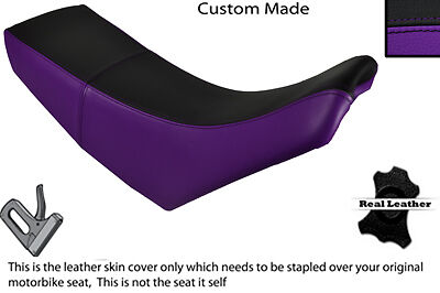 BLACK /& PURPLE CUSTOM FITS YAMAHA TTR 250 LEATHER DUAL SEAT COVER ONLY