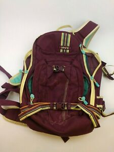 Dakine-Backpack-Daypack-Hiking-School-Maroon-Multicolor-Stripes