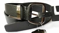 Men's Genuine Leather Belt, Casual, Black, Brown, Sizes: 38, 40, 42