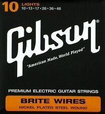 Gibson BRITE WIRES PREMIUM CHITARRA ELETTRICA Stringa Set 10 Gauge