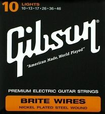 Gibson Brite Wires Premium Electric Guitar String Set 10 Gauge