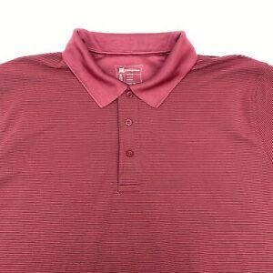 Munsingwear Polo Shirt Men's 2XL XXL Short Sleeve Red Black Polyester Casual