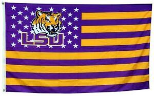 Louisiana State Tigers US LSU Stars&Stripes Flag Banner 3X5 ft US Shipper