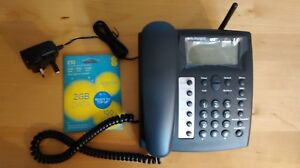 BURNSIDE-P350-Fixed-Cellular-GSM-Desk-Care-Home-Phone-EE-PAYG-SIM-CARD