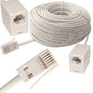 RJ11-GB-Male-a-US-Femme-ADSL-Cable-D-039-Extension-Routeur-Modem-Telephone-2M-15M