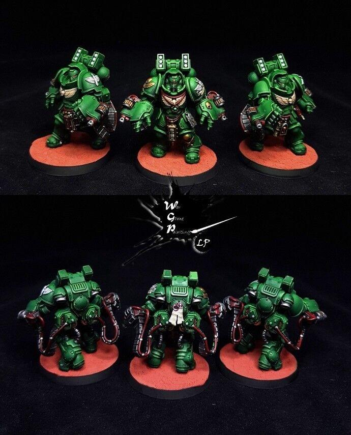 Ángeles oscuros Primaris agresores Comisión magníficamente pintado warhammer 40K