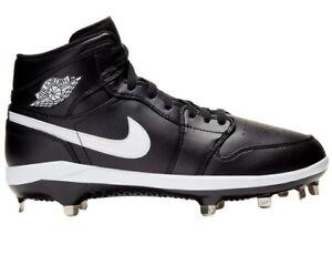 Jordan Retro 1 Black Baseball Cleats