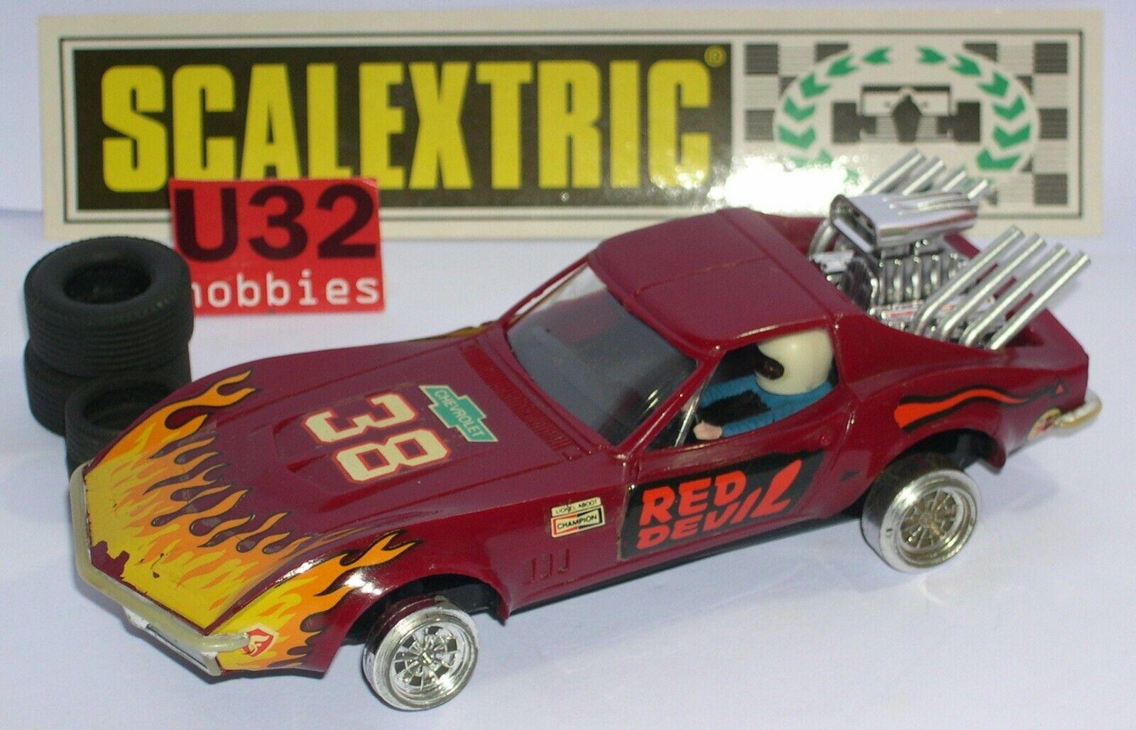 Scalextric Exin C-4050 Chevrolet Corvette  38 Granat Ausgezeichnet Zustand