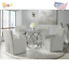 society den marcy standard height 5-piece dining set-table and four arm chairs
