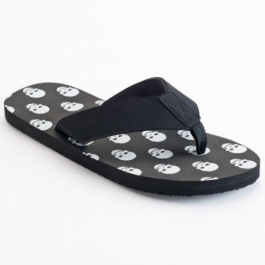 Ellum Supply & Co. Men's Sandals Print Skull Shoes Flip Flops Father's Day Gift